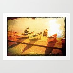 sunBath Art Print