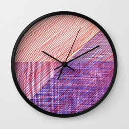 Line Art 3 Wall Clock