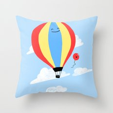 Balloon Buddies Throw Pillow