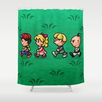 earthbound Shower Curtains featuring Earthbound Guys by likelikes