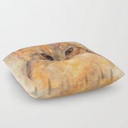 Ginger cat art Floor Pillow