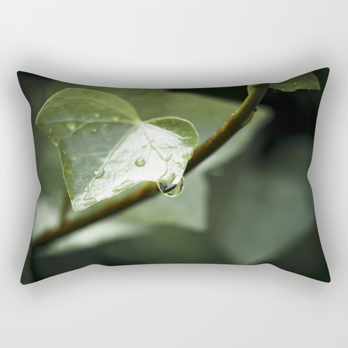 drops in ivy Rectangular Pillow