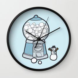 Snow Ball Gum Ball Wall Clock