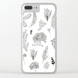 Graphical herbs Clear iPhone Case