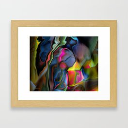 Liquid Colors by Artist McKenzie http://www.McKenzieArtStudio.com Framed Art Print