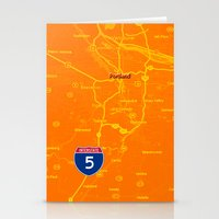 portland Stationery Cards featuring portland by Larsson Stevensem