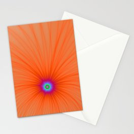 Tangerine Color Explosion Stationery Cards