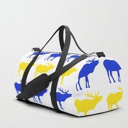 Graphic Swedish Elk Flag I Duffle Bag