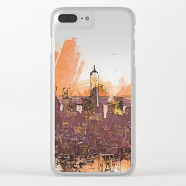 New York Panorama Clear iPhone Case