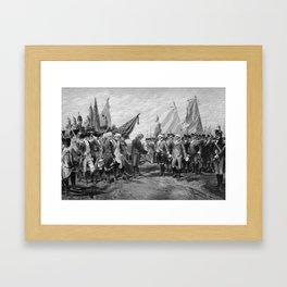 Surrender Of Cornwallis At Yorktown Framed Art Print