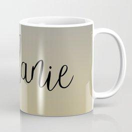 Melanie Grey Yellow Ombre Coffee Mug