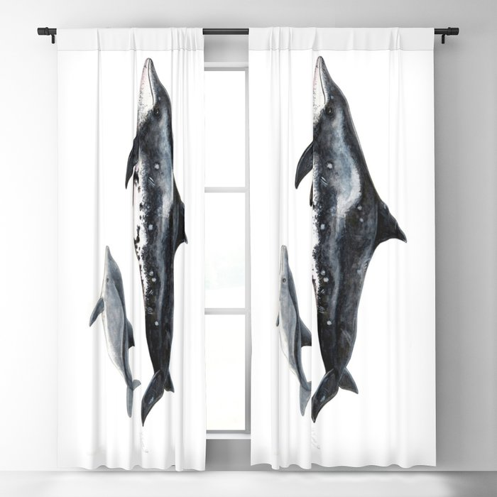 Rough-toothed dolphin (Steno bredanensis) Blackout Curtain