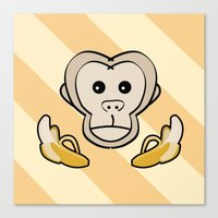 monkey Canvas Prints featuring Monkey by Nir P