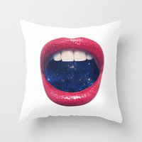 xbox Throw Pillows featuring A Taste of Space by Zavu