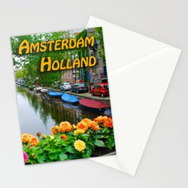 Amsterdam Holland Canal Stationery Cards
