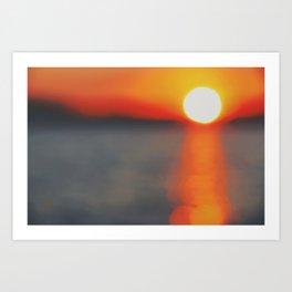 Blurred Sunset Art Print