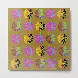 loopy flower Metal Print