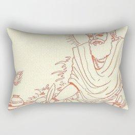 Hindu Monk Meditation Textile Rectangular Pillow