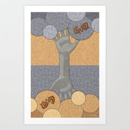Deeply Rooted - (Artifact Series) Art Print