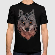 Wolf Mother Black Mens Fitted Tee LARGE