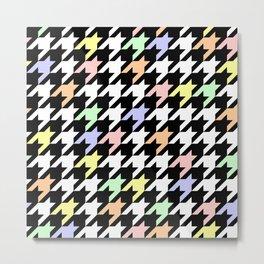 Houndstooth pattern Metal Print