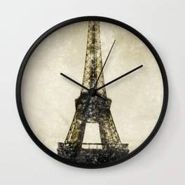 Paris Flea Market Wall Clock