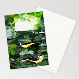 Grey Wagtails Stationery Cards