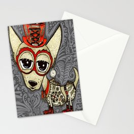 Steampunk Chihuahua Victorian Ornate Stationery Cards