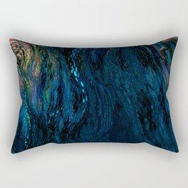 deep dark blue Rectangular Pillow