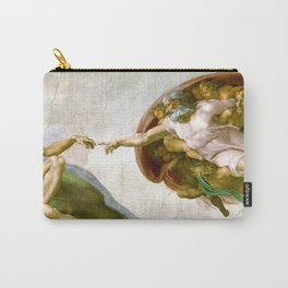 The Creation of Adam Painting by Michelangelo Sistine Chapel Carry-All Pouch