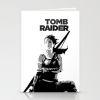 tomb raider Stationery Cards featuring Tomb Raider by Krbshadow