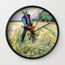 The Haymaker by Edvard Munch Wall Clock