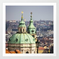 prague Art Prints featuring Prague by Veronika