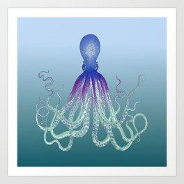 Deep Sea Octopus Art Print