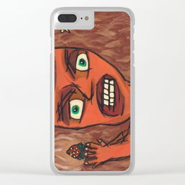 Sour Strawberries Clear iPhone Case
