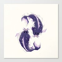 pisces Canvas Prints featuring Pisces! by Yetiland