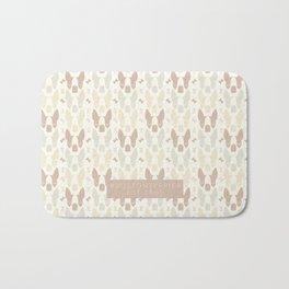 Boston Terrier Wood Pattern Bath Mat