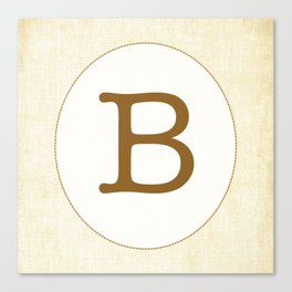 Vintage Letter Series - B Canvas Print