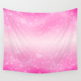 Magic deep pink heart patterned Wall Tapestry