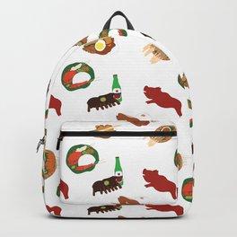 Balinese Food Pattern Backpack