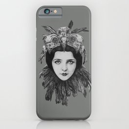Lady Bird Skull iPhone Case