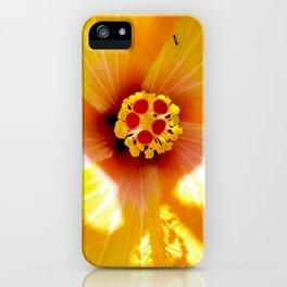 Yellow Hybiscus iPhone Case