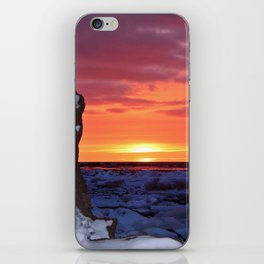 Golden Sunset on Sea and  Snow iPhone Skin