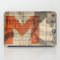 stevie nicks iPad Cases featuring stevie wonder ticket stub by Vin Zzep