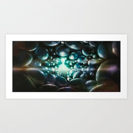 Into the darkness Art Print