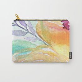 Yellow Roses Watercolor Carry-All Pouch