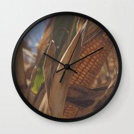 Fall Corn Wall Clock