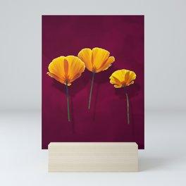 Three Poppies Mini Art Print