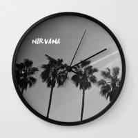 nirvana Wall Clocks featuring Nirvana by morganedavison