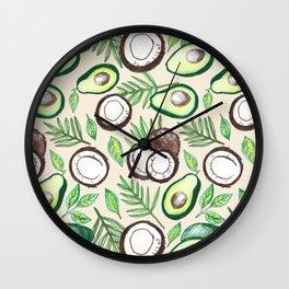 Coconuts & Avocados Wall Clock